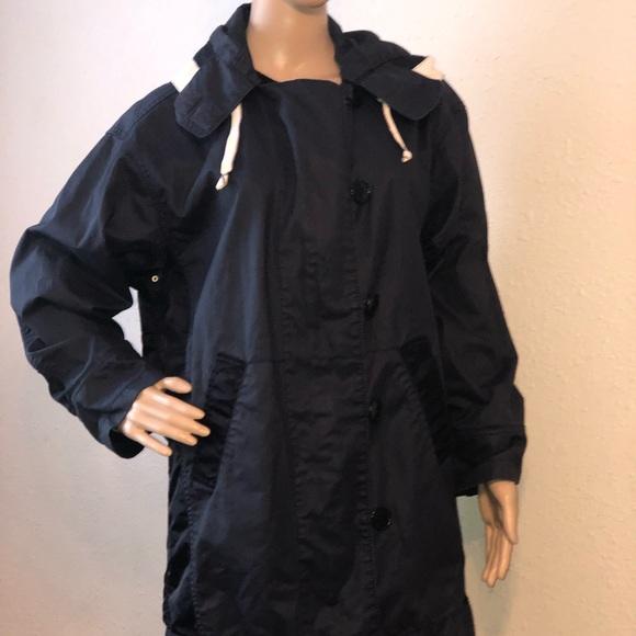 J. Crew Jackets & Blazers - J. Crew Rain Jacket Women's Navy Blue Small, Mid